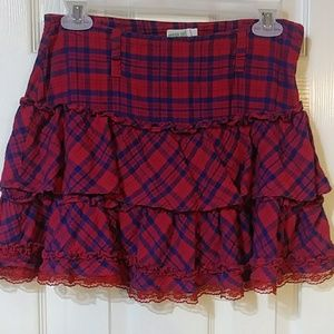 Ruffled teen skirt